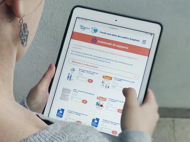 Commande de supports d'information cpam assurance maladie démarches ameli précaires